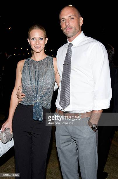 Actress AJ Cook and her husband Nathan Andersen arrive at the ACT Today's 7th Annual Denim Diamonds For Autism Benefit on November 3 2012 in Malibu...