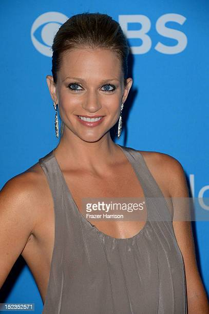 Actress AJ Cook arrives at CBS 2012 fall premiere party held at Greystone Manor Supperclub on September 18 2012 in West Hollywood California