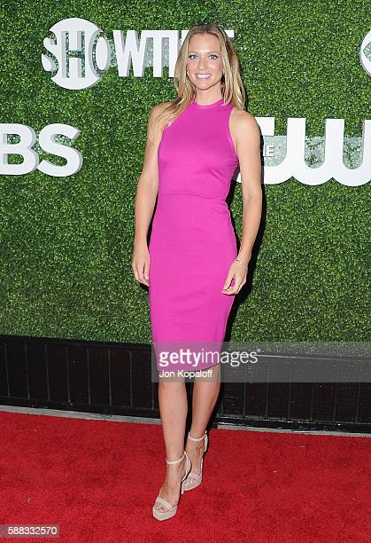Actress AJ Cook arrives at CBS CW Showtime Summer TCA Party at Pacific Design Center on August 10 2016 in West Hollywood California