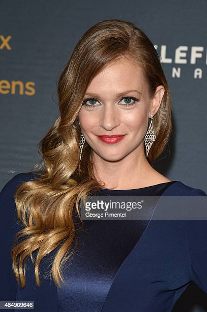 Actress AJ Cook arrives at the 2015 Canadian Screen Awards at the Four Seasons Centre for the Performing Arts on March 1 2015 in Toronto Canada