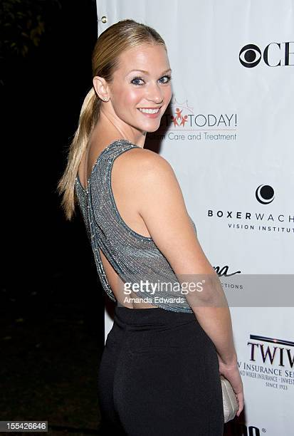 Actress A.J. Cook arrives at the ACT Today!'s 7th Annual Denim & Diamonds For Autism Benefit on November 3, 2012 in Malibu, California.