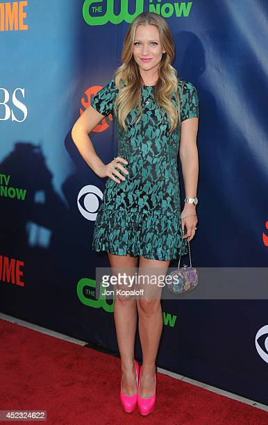 Actress AJ Cook arrives at the CBS The CW Showtime CBS Television Distribution 2014 Television Critics Association Summer Press Tour at Pacific...
