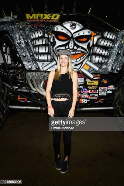 Actress AJ Cook attends Monster Jam at STAPLES Center on Saturday August 18 2018 in Los Angeles CA