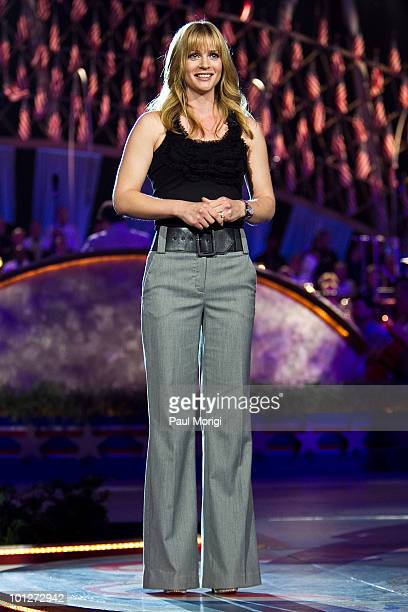 Actress A.J. Cook attends the 21st Annual PBS National Memorial Day Concert rehearsals at the US Capitol on May 29, 2010 in Washington, DC.