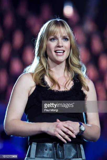 Actress AJ Cook attends the 21st Annual PBS National Memorial Day Concert rehearsals at the US Capitol on May 29 2010 in Washington DC