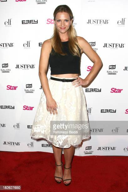 Actress AJ Cook attends the Star Magazine Scene Stealers Party held at Tropicana Bar at The Hollywood Rooselvelt Hotel on October 1 2013 in Hollywood...
