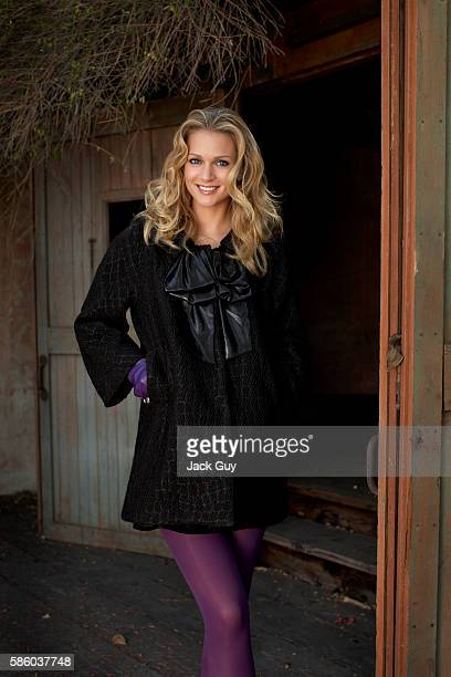 Actress AJ Cook is photographed for OK Magzine in 2007 in Los Angeles California Styling by Brenna Egan hair by John Ruggiero and makeup by Bryin...