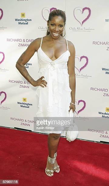 Actress Aj Johnson Arrives At The 2nd Annual Gala Dinner Benefiting The Chaka Khan Foundation At