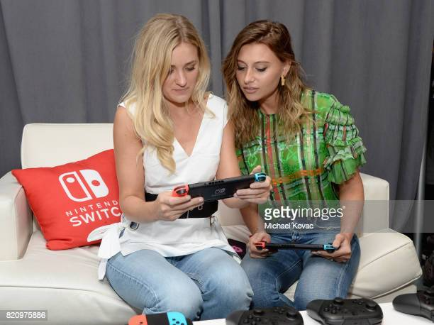 Actress AJ Michalka and actress Aly Michalka from the television series iZombie and AJ Michalka stopped by Nintendo at the TV Insider Lounge to check...