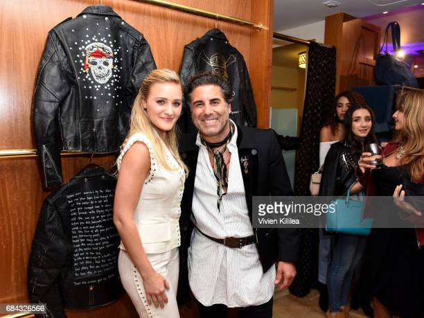 Actress AJ Michalka and What Goes Around Comes Around CoFounder Gerard Maione attend the Pirates of the Caribbean special event at What Goes Around...