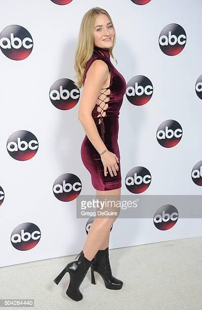 Actress AJ Michalka arrives at the 2016 Winter TCA Tour Disney/ABC at Langham Hotel on January 9 2016 in Pasadena California