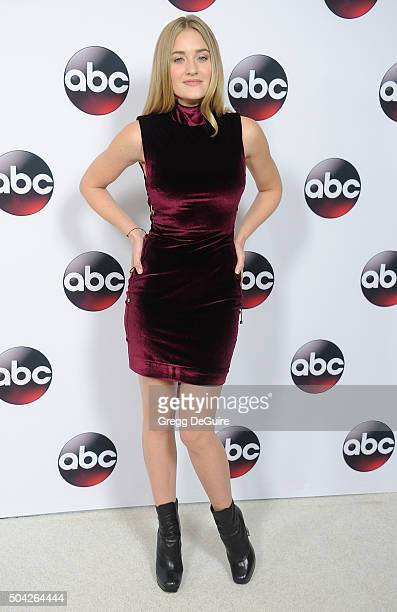 Actress AJ Michalka arrives at the 2016 Winter TCA Tour Disney/ABC at Langham Hotel on January 9 2016 in Pasadena California
