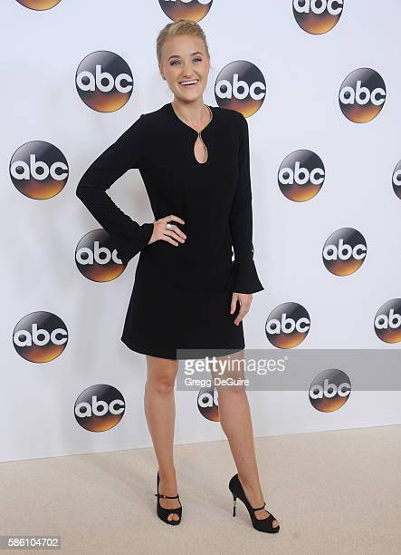 Actress AJ Michalka arrives at the Disney ABC Television Group TCA Summer Press Tour at the Beverly Hilton Hotel on August 4 2016 in Beverly Hills...