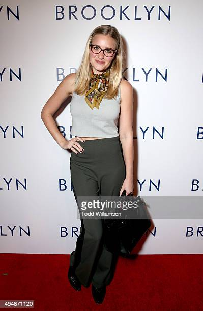 Actress AJ Michalka arrives at the Los Angeles premiere of Fox Searchlight's 'Brooklyn' at the Harmony Gold Theatre on October 29 2015 in Los Angeles...