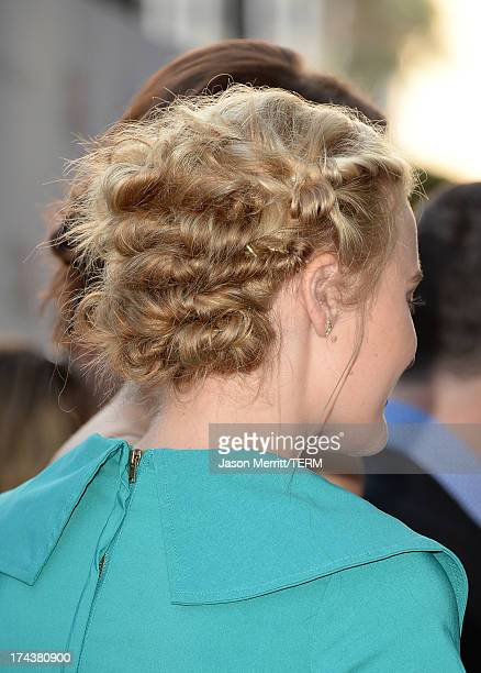 Actress AJ Michalka arrives at the premiere of 'Blue Jasmine' hosted by AFI Sony Picture Classics at AMPAS Samuel Goldwyn Theater on July 24 2013 in...