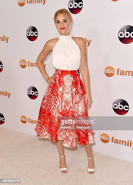 Actress AJ Michalka attends Disney ABC Television Group's 2015 TCA Summer Press Tour at the Beverly Hilton Hotel on August 4 2015 in Beverly Hills...