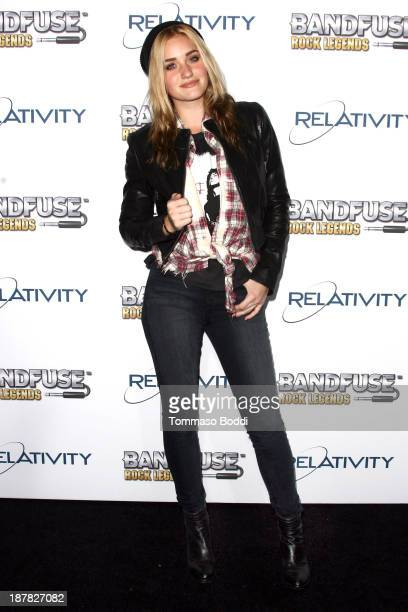 Actress AJ Michalka attends the BandFuse Rock Legends event held at House of Blues Sunset Strip on November 12 2013 in West Hollywood California