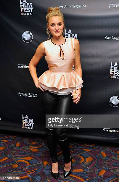 Actress AJ Michalka attends the 'Weepah Way for Now' screening during the 2015 Los Angeles Film Festival at Regal Cinemas LA Live on June 16 2015 in...