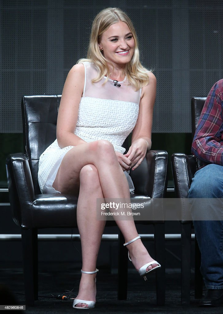 Actress AJ Michalka speaks onstage during the 'The Goldbergs' panel discussion at the ABC Entertainment portion of the 2015 Summer TCA Tour at The Beverly Hilton Hotel on August 4, 2015 in Beverly Hills, California.
