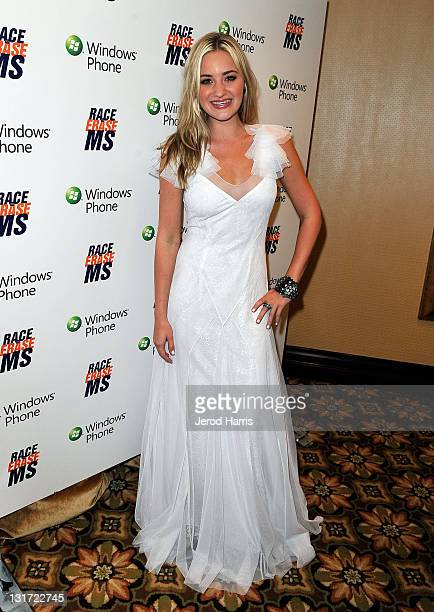 Actress AJ Michalka visits Windows Phone at the 18th Annual Race to Erase MS event co-chaired by Nancy Davis and Tommy Hilfiger at the Hyatt Regency...