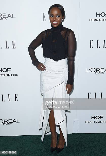 Actress Aja Naomi King arrives at the 23rd Annual ELLE Women In Hollywood Awards at Four Seasons Hotel Los Angeles at Beverly Hills on October 24,...