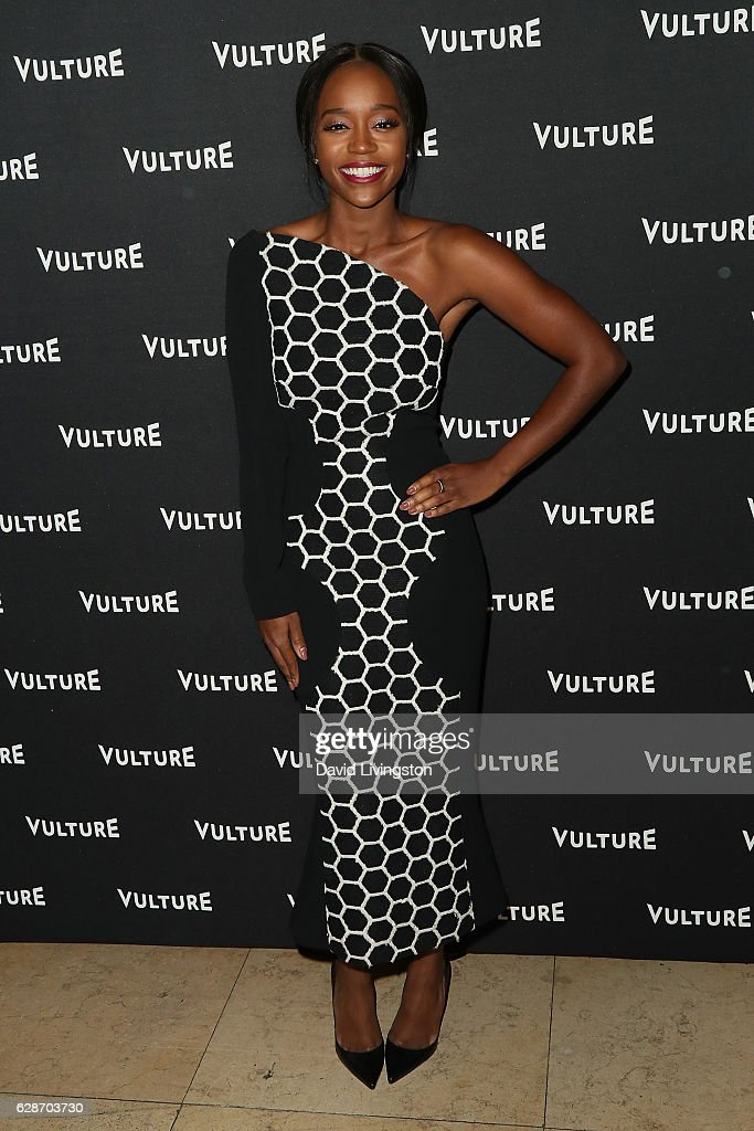 Actress Aja Naomi King arrives at the Vulture Awards Season Party at the Sunset Tower Hotel on December 8, 2016 in West Hollywood, California.