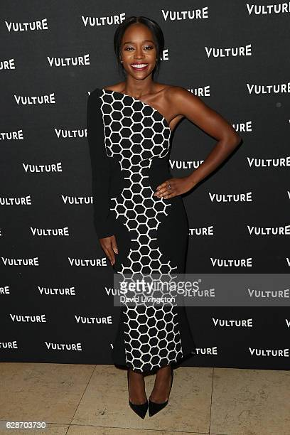 Actress Aja Naomi King arrives at the Vulture Awards Season Party at the Sunset Tower Hotel on December 8 2016 in West Hollywood California