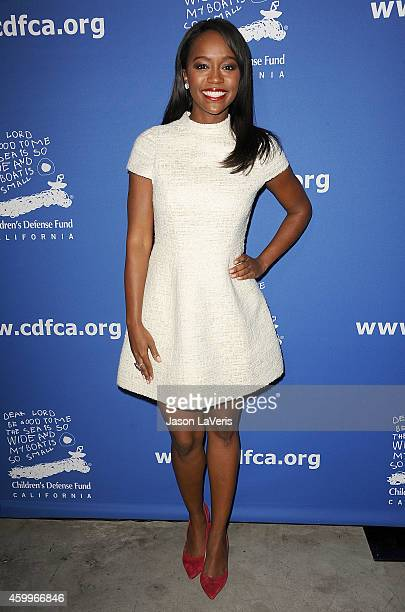 Actress Aja Naomi King attends Children's Defense Fund's 24th annual Beat The Odds Awards at The Book Bindery on December 4 2014 in Culver City...