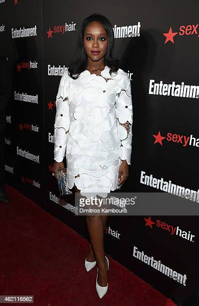 Actress Aja Naomi King attends Entertainment Weekly's celebration honoring the 2015 SAG awards nominees at Chateau Marmont on January 24 2015 in Los...