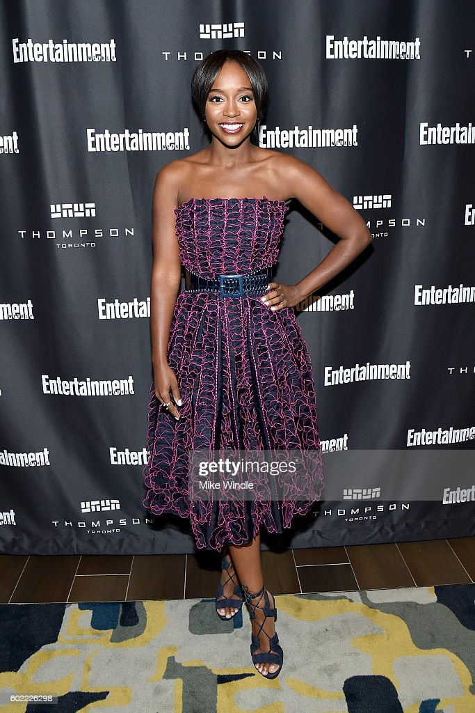 Actress Aja Naomi King attends Entertainment Weekly's Toronto Must List party at the Thompson Hotel on September 10, 2016 in Toronto, Canada.