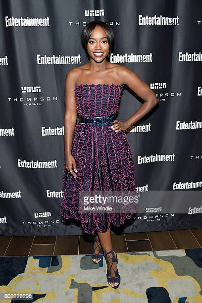 Actress Aja Naomi King attends Entertainment Weekly's Toronto Must List party at the Thompson Hotel on September 10 2016 in Toronto Canada