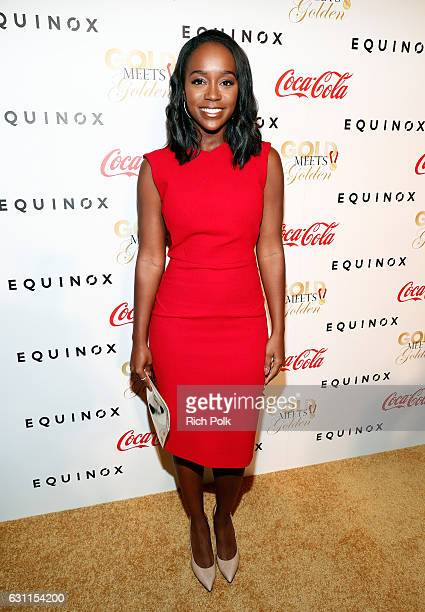Actress Aja Naomi King attends Life is Good at GOLD MEETS GOLDEN Event at Equinox on January 7 2017 in Los Angeles California