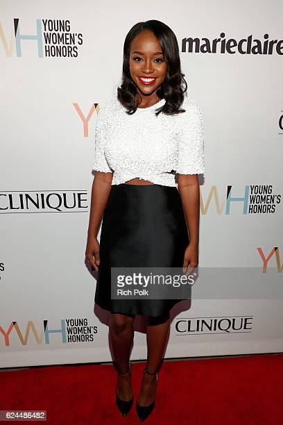 Actress Aja Naomi King attends Marie Claire Young Women's Honors presented by Clinique at Marina del Rey Marriott on November 19 2016 in Marina del...