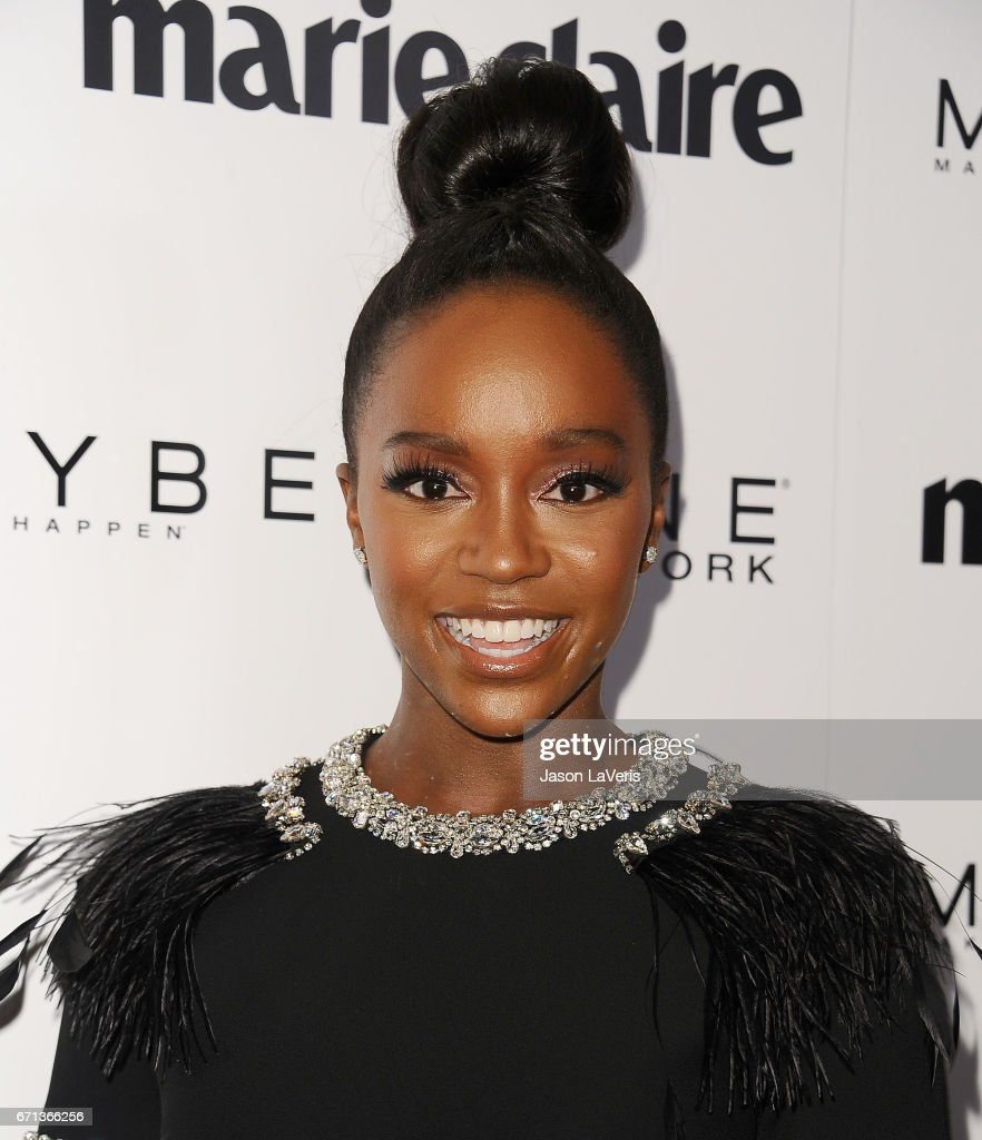 Actress Aja Naomi King attends Marie Claire's Fresh Faces event at Doheny Room on April 21, 2017 in West Hollywood, California.