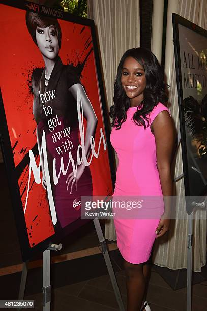 Actress Aja Naomi King attends the 15th Annual AFI Awards at Four Seasons Hotel Los Angeles at Beverly Hills on January 9, 2015 in Beverly Hills,...