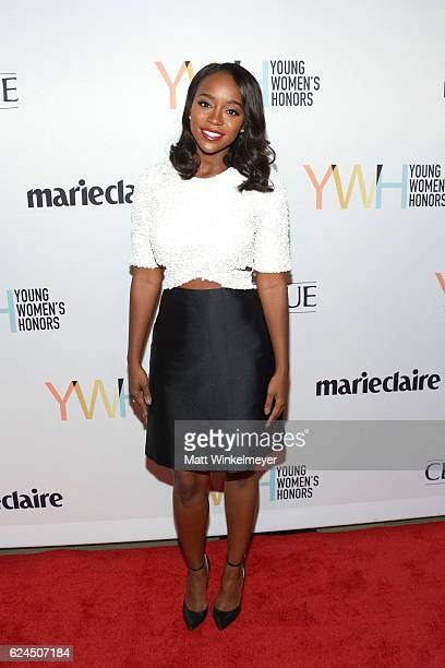 Actress Aja Naomi King attends the 1st annual Marie Claire Young Women's Honors at Marina del Rey Marriott on November 19 2016 in Marina del Rey...