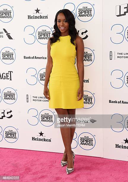 Actress Aja Naomi King attends the 2015 Film Independent Spirit Awards at Santa Monica Beach on February 21 2015 in Santa Monica California