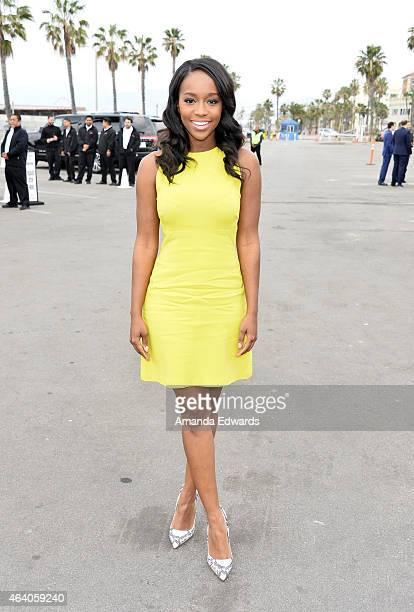 Actress Aja Naomi King attends the 2015 Film Independent Spirit Awards at Santa Monica Beach on February 21, 2015 in Santa Monica, California.