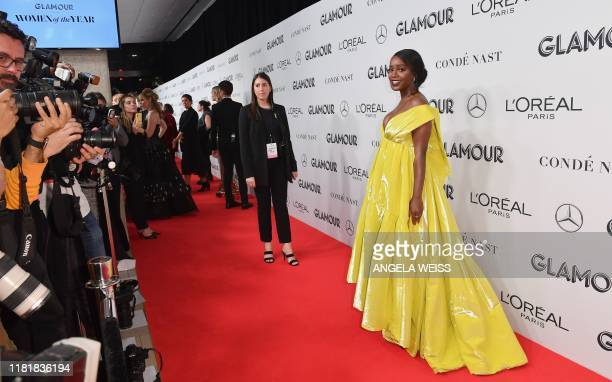 US actress Aja Naomi King attends the 2019 Glamour Women Of The Year Awards at Alice Tully Hall Lincoln Center on November 11 2019 in New York City