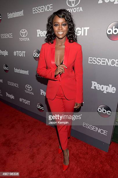 Actress Aja Naomi King attends the Celebration of ABC's TGIT Lineup presented by Toyota and cohosted by ABC and Time Inc's Entertainment Weekly...