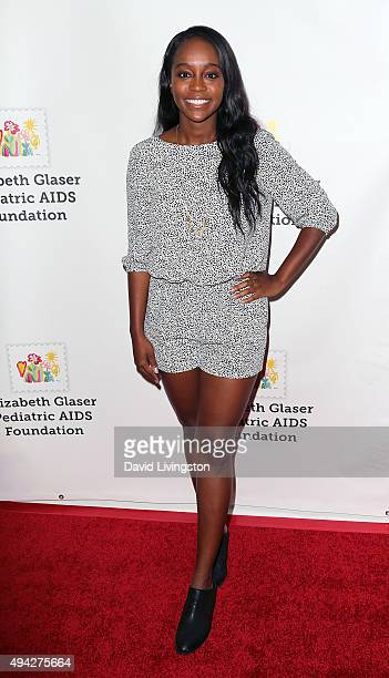 Actress Aja Naomi King attends the Elizabeth Glaser Pediatric AIDS Foundation's 26th A Time for Heroes Family Festival at Smashbox Studios on October...