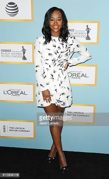 Actress Aja Naomi King attends the Essence 9th annual Black Women In Hollywood event at the Beverly Wilshire Four Seasons Hotel on February 25 2016...