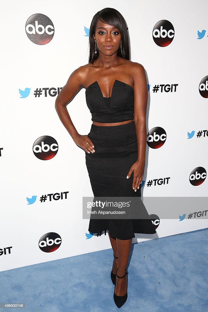 Actress Aja Naomi King attends the TGIT Premiere event at Palihouse on September 20, 2014 in West Hollywood, California.