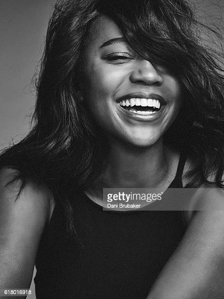 Actress Aja Naomi King is photographed for Interview Magazine on February 25 2016 in Los Angeles California