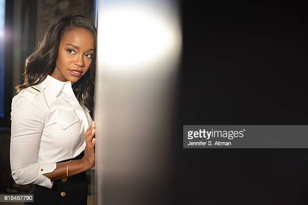 Actress Aja Naomi King is photographed for Los Angeles Times on October 5 2016 in New York City PUBLISHED IMAGE