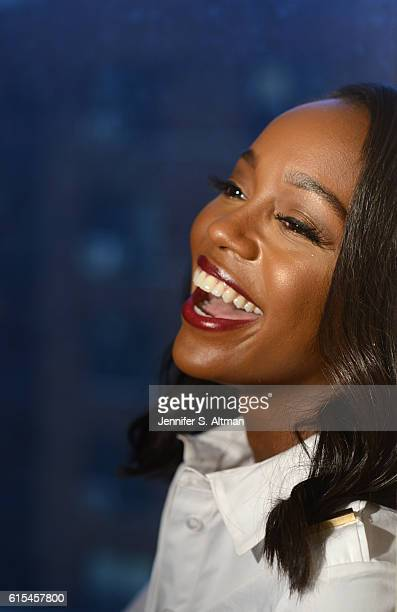 Actress Aja Naomi King is photographed for Los Angeles Times on October 5 2016 in New York City