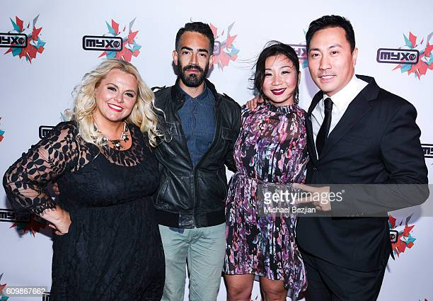 Actress Ajay Rochester German Legarreta Becky Wu and David Kang at MYX TV presents Cast Me on September 22 2016 in Los Angeles California