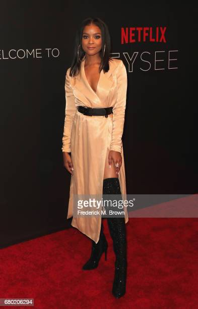 Actress Ajiona Alexus arrives at the Netflix FYSee Kick Off Event at Netflix FYSee Space on May 7 2017 in Beverly Hills California