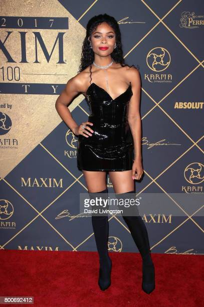 Actress Ajiona Alexus attends the 2017 MAXIM Hot 100 Party at the Hollywood Palladium on June 24 2017 in Los Angeles California