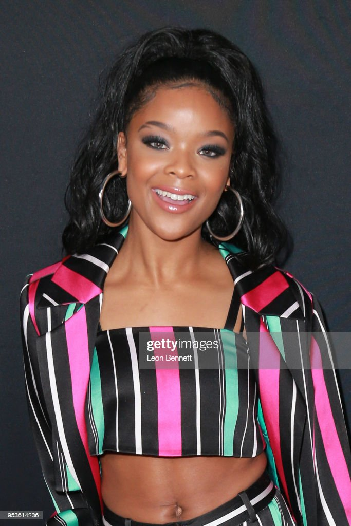 Actress Ajiona Alexus attends Universal Pictures' Special Screening Of 'Breaking In' - Arrivals at ArcLight Cinemas on May 1, 2018 in Hollywood, California.